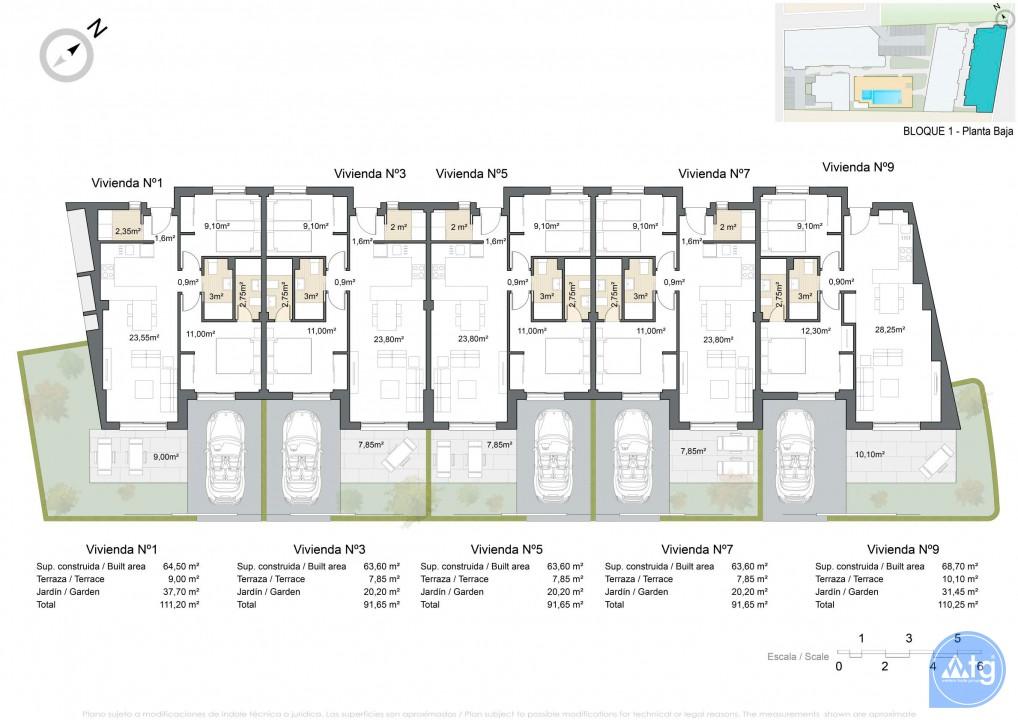 Bungalow de 2 chambres à Torrevieja - AGI5754 - 8