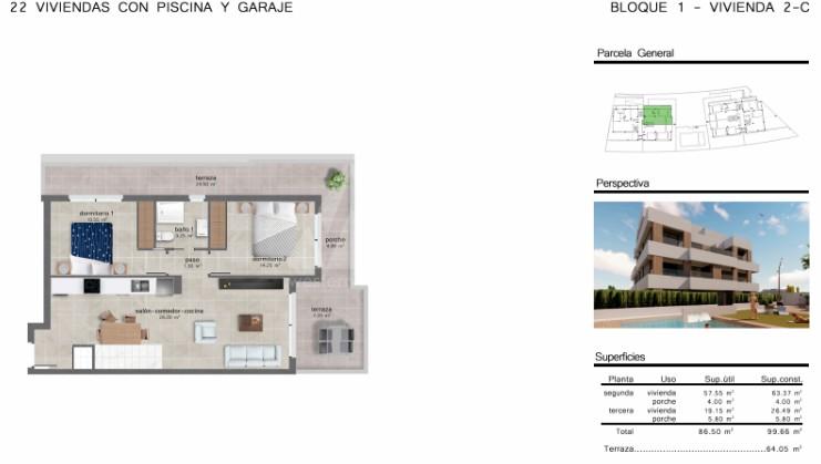 Penthouse de 3 chambres à San Javier - GU114735 - 11