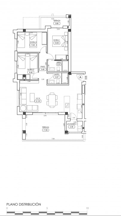 Appartement de 2 chambres à Villamartin - TRI114876 - 34