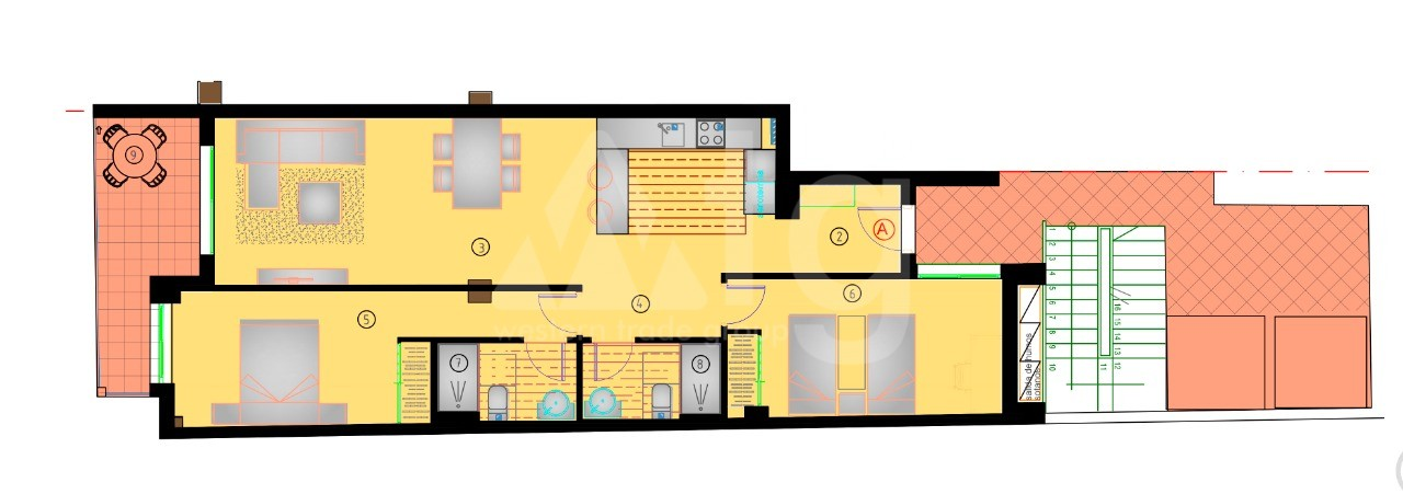 Appartement de 2 chambres à Torrevieja - AG8490 - 21