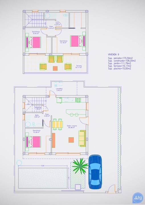Villa de 3 chambres à Pilar de la Horadada - RP8067 - 28