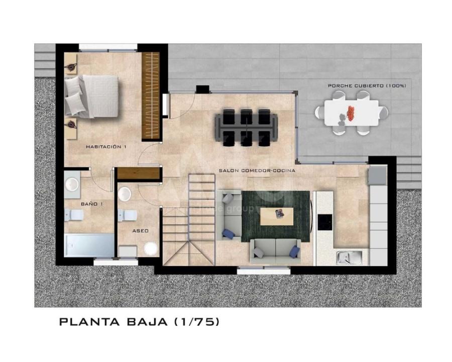 Villa de 3 chambres à Pilar de la Horadada - RP8067 - 8