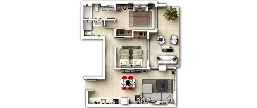 Penthouse cu 2 dormitoare în Guardamar del Segura  - AG4104 - 5