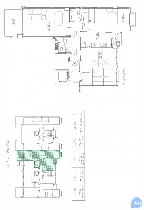 Penthouse de 2 chambres à La Manga - GRI115252 - 29