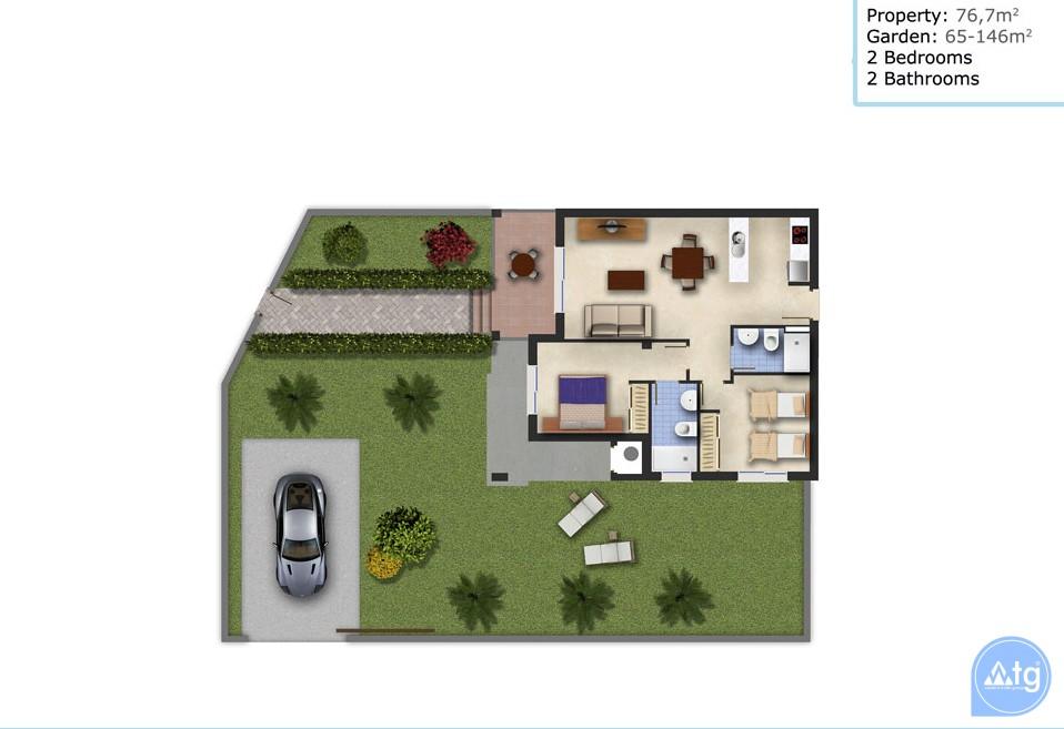 2 bedroom Penthouse in Ciudad Quesada - ER7044 - 14
