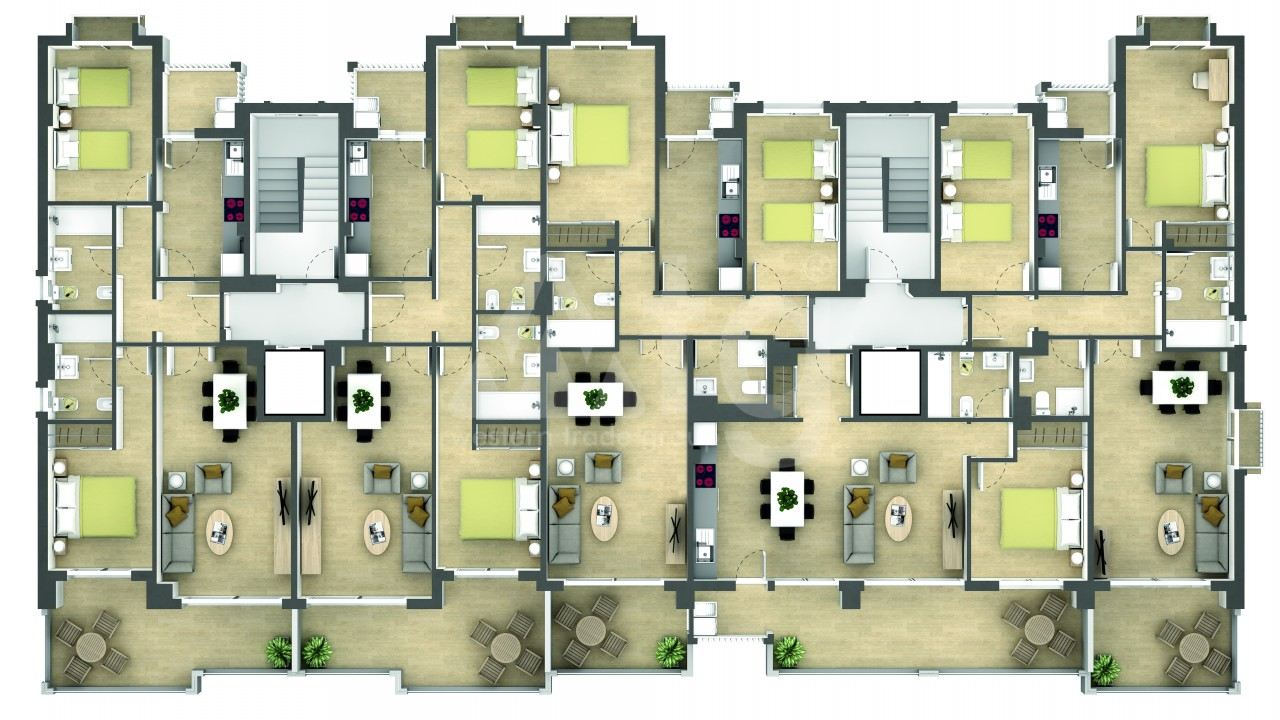 2 bedroom Penthouse in La Manga  - GRI115252 - 27