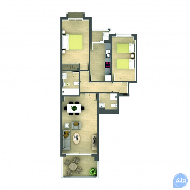 2 bedroom Penthouse in La Manga  - GRI115252 - 28