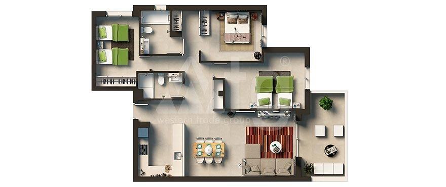 Appartement de 3 chambres à Punta Prima - GD6312 - 35