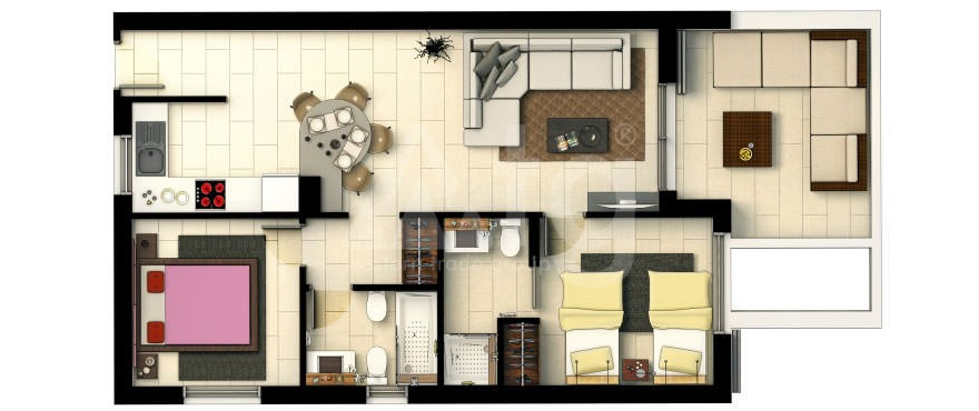 Appartement de 3 chambres à Punta Prima - GD113869 - 8