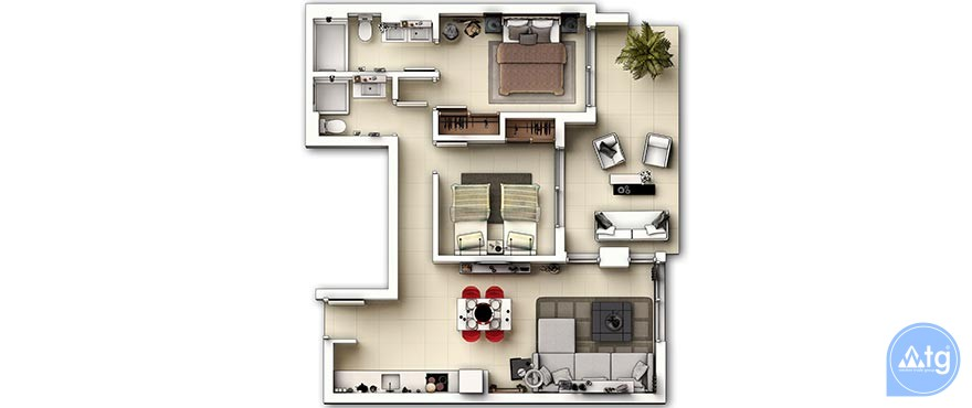 2 bedroom Apartment in Punta Prima  - GD8175 - 29