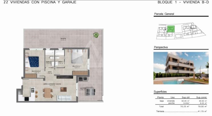 2 bedroom Apartment in San Javier  - GU114738 - 10