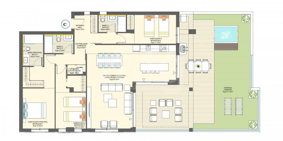 2 bedroom Apartment in Torre de la Horadada - CC115180 - 22