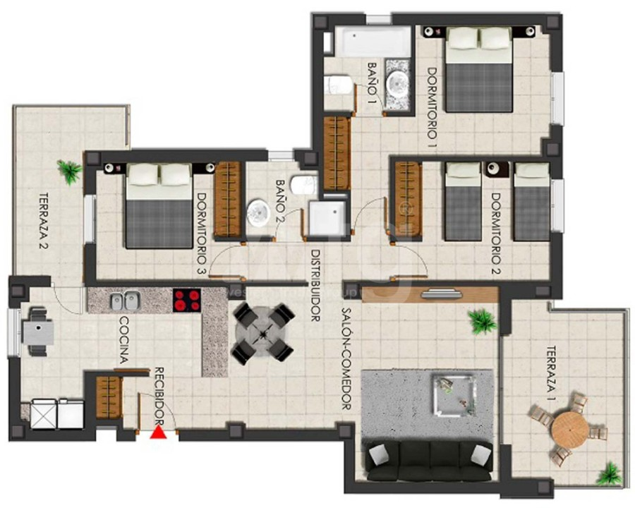 3 bedroom Apartment in Villamartin - GB7799 - 14