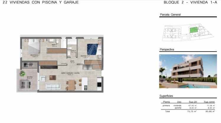 2 bedroom Apartment in San Javier  - GU114731 - 10