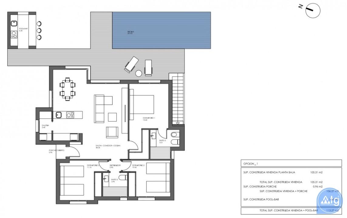 Villa de 3 habitaciones en Polop  - WF7204 - 14