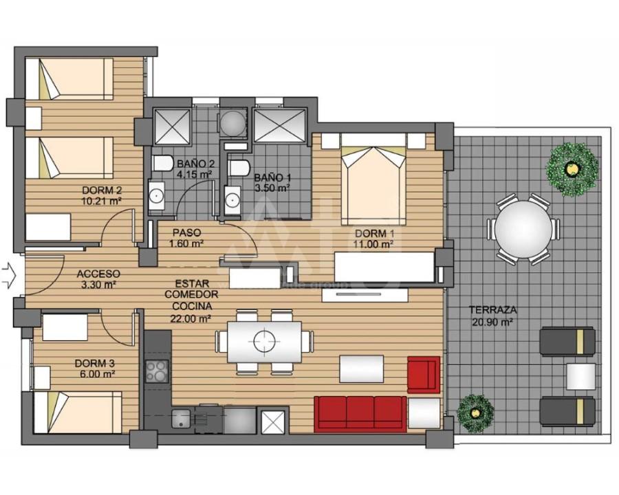 3 bedroom Apartment in Villamartin - VD7891 - 12