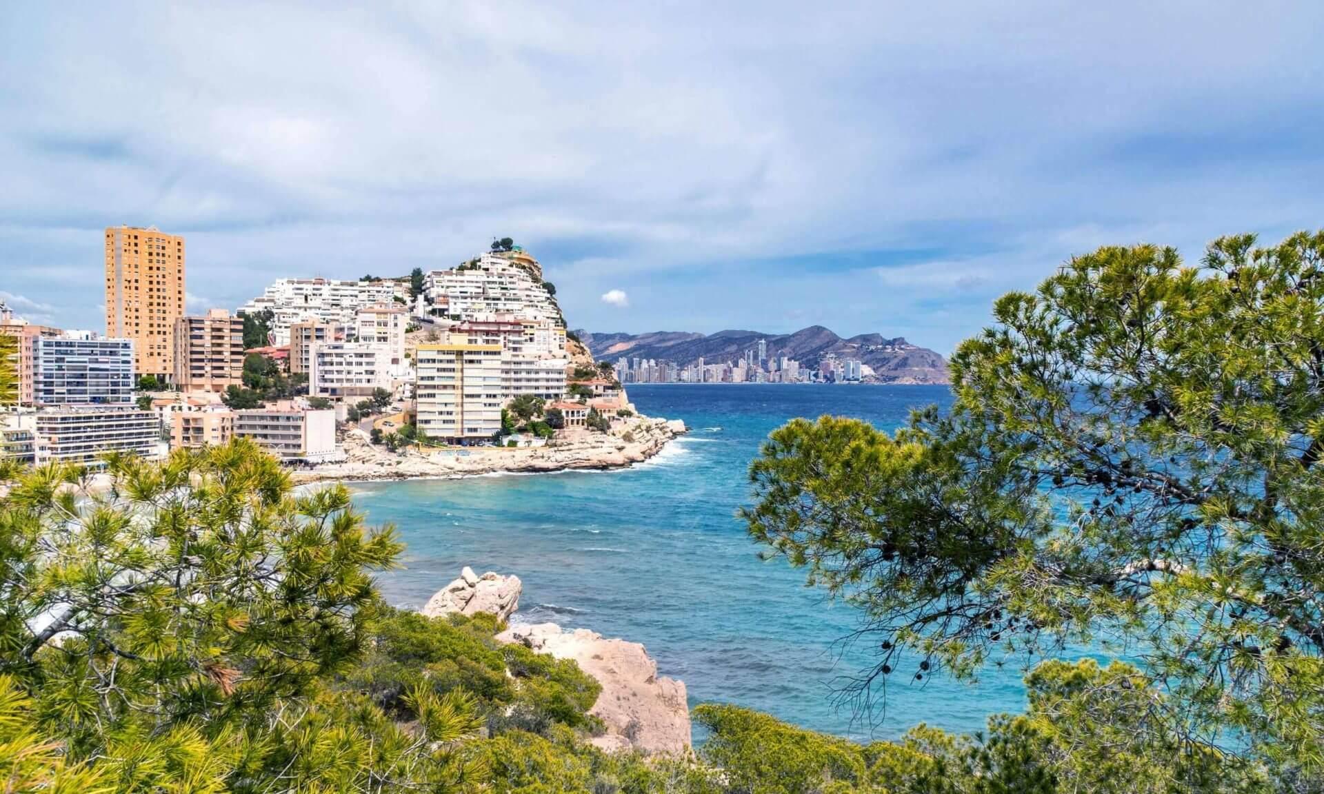 Finestrat town in Spain