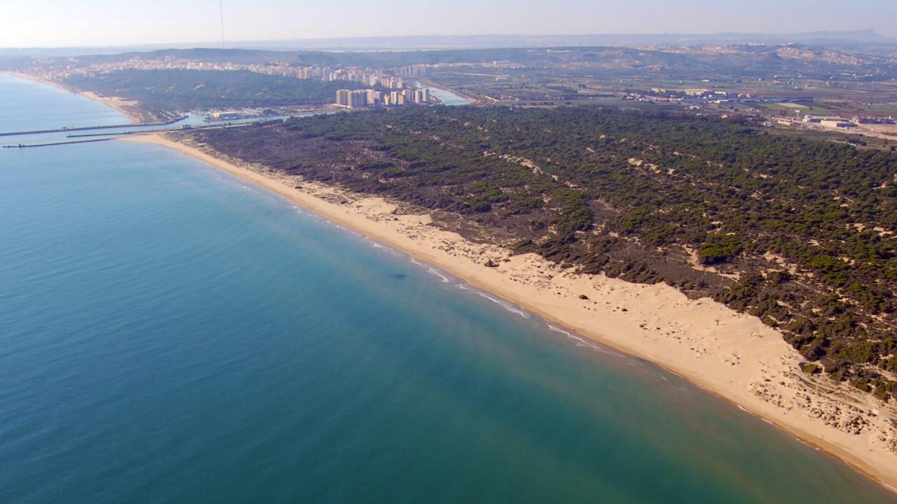 Beach of Guardamar del Segura town in Spain